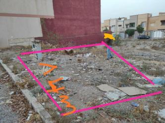 terrain 260m zone villa a route jerada oujda