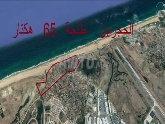 terrain de 65 ha à vendre plage sidi kacem tanger