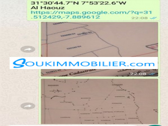 terrain de 30000 m2 route d\'ourika