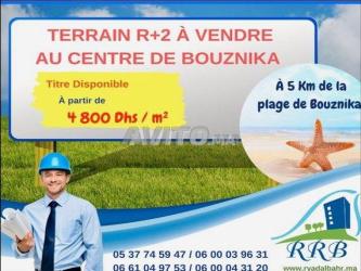 terrain à vendre r2 a bouznika
