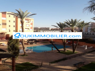 appartement 70 m2 av piscine a charaf route casa