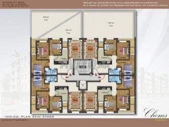 appartement de bonne qualité 80m2 situé à deroua