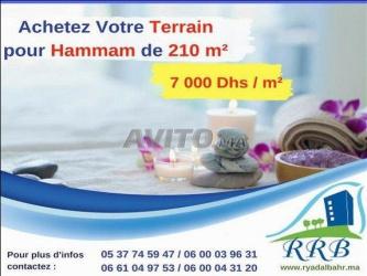 terrain de 210 m2 pour hammam