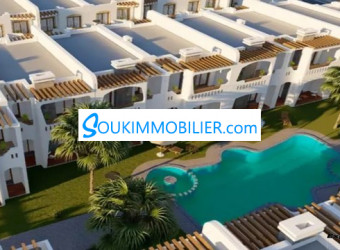 bungalow 200 m2 sur la plage de sidi rahal chatai