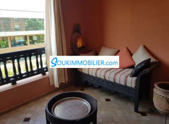 appartement meublé 2 chs à marrakech