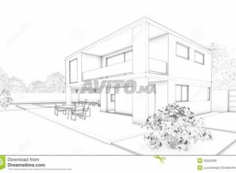 maison moderne neuve