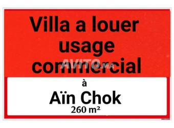 villa usage commercial à aïn chok
